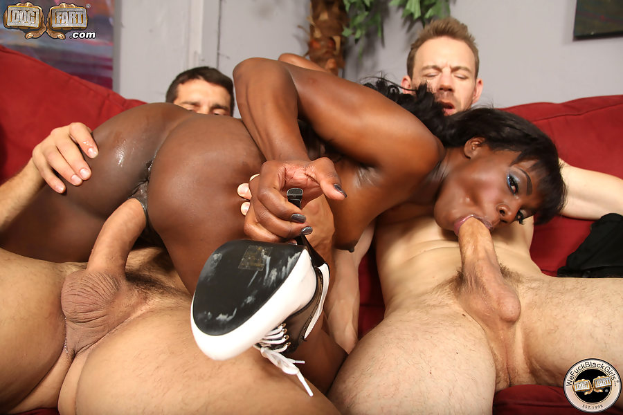 Ana Foxxx With Ten Lucky Guys